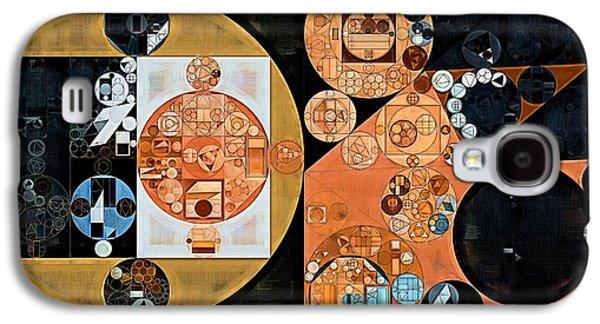 Abstract Painting - Onyx Galaxy S4 Case by Vitaliy Gladkiy