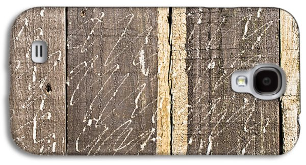 Nature Abstract Galaxy S4 Cases - Wooden background Galaxy S4 Case by Tom Gowanlock