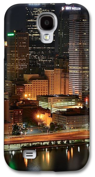 A Pittsburgh Night Galaxy S4 Case by Frozen in Time Fine Art Photography