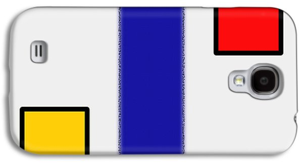 Abstract Digital Paintings Galaxy S4 Cases - ABSTRACT COMPOSITION 06 Piet Mondrian Style Galaxy S4 Case by Celestial Images
