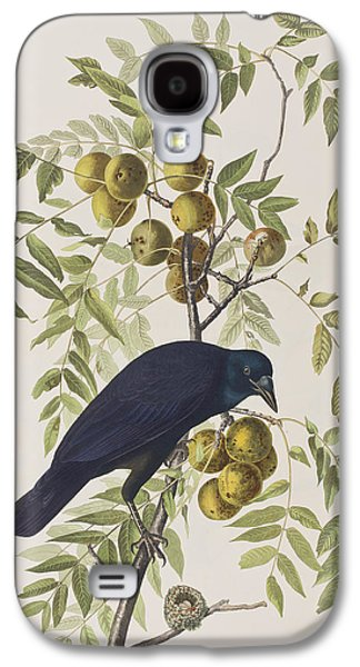 Americans Drawings Galaxy S4 Cases - American Crow Galaxy S4 Case by John James Audubon
