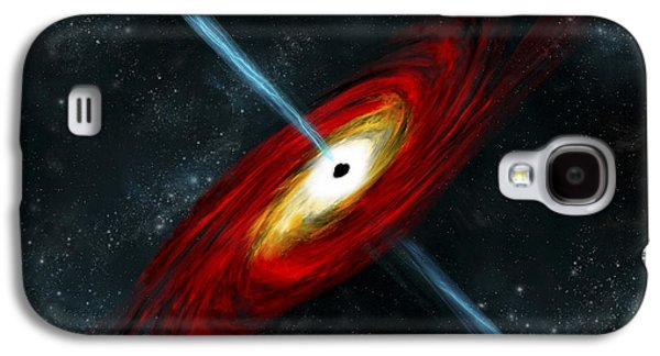 Jet Star Galaxy S4 Cases - Artists Depiction Of A Black Hole Galaxy S4 Case by Marc Ward