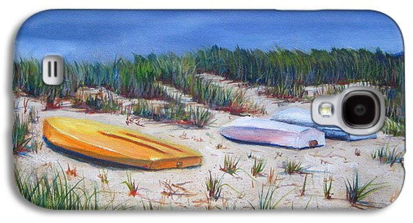 Cape Cod Paintings Galaxy S4 Cases - 3 Boats Galaxy S4 Case by Paul Walsh