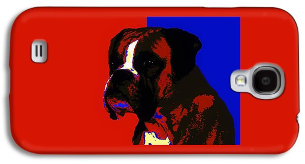 Dogs Digital Galaxy S4 Cases - Boxer Dog Galaxy S4 Case by Alexey Bazhan