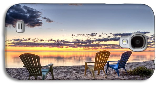 Relaxed Galaxy S4 Cases - 3 Chairs Sunrise Galaxy S4 Case by Scott Norris