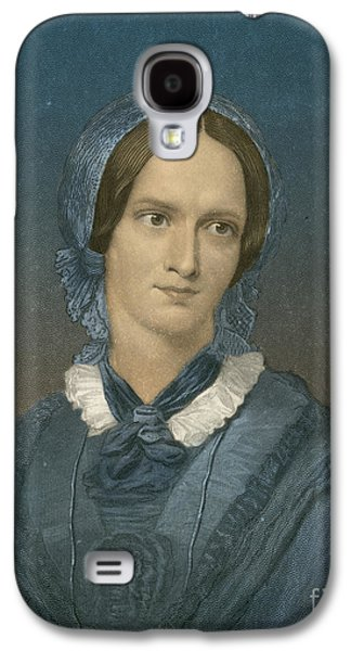 Charlotte Galaxy S4 Cases - Charlotte Bronte, English Author Galaxy S4 Case by Photo Researchers