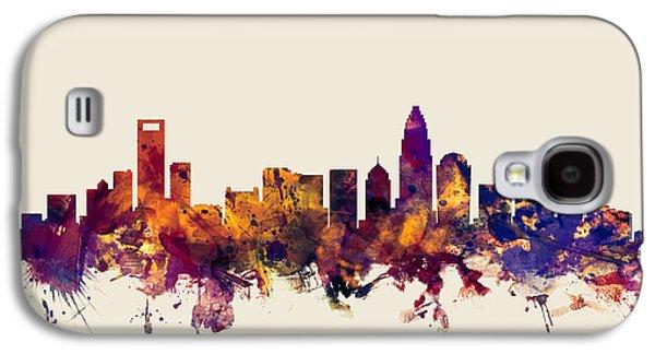 Charlotte North Carolina Skyline Galaxy S4 Case by Michael Tompsett