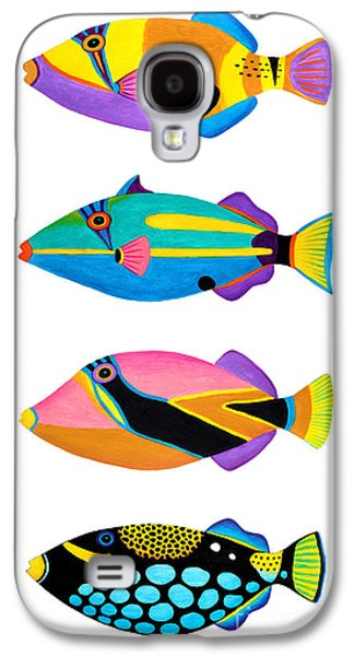 Collection Of Trigger Fishes Galaxy S4 Case by Opas Chotiphantawanon