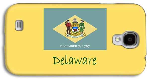 Waving Flag Mixed Media Galaxy S4 Cases - Delaware Flag Galaxy S4 Case by Frederick Holiday