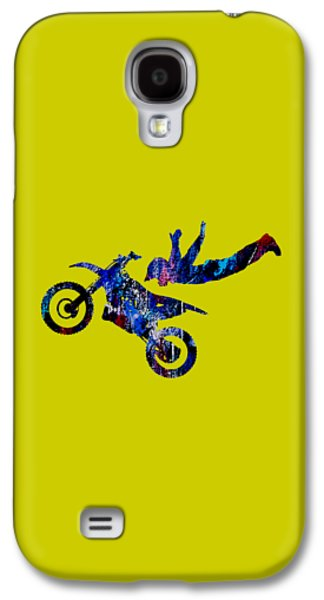 Race Galaxy S4 Cases - Dirt Bike Superman Collection Galaxy S4 Case by Marvin Blaine