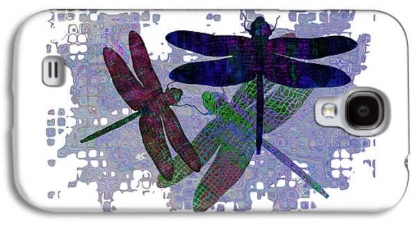 Ants Galaxy S4 Cases - 3 Dragonfly Galaxy S4 Case by Jack Zulli
