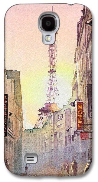 Evening Paintings Galaxy S4 Cases - Eiffel Tower Paris France Galaxy S4 Case by Irina Sztukowski