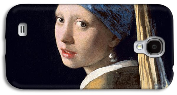 Girl Galaxy S4 Cases - Girl With A Pearl Earring Galaxy S4 Case by Johannes Vermeer