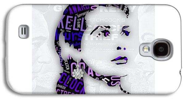 Grace Kelly Movies In Words Galaxy S4 Case by Marvin Blaine