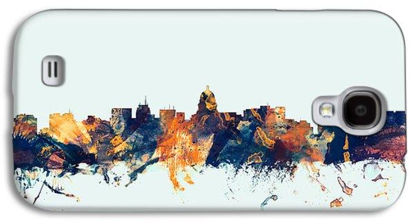 Madison Galaxy S4 Cases - Madison Wisconsin Skyline Galaxy S4 Case by Michael Tompsett