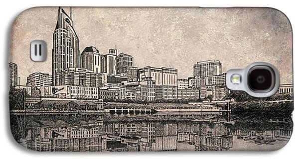 Best Sellers -  - Janet King Galaxy S4 Cases - Nashville Skyline  Galaxy S4 Case by Janet King