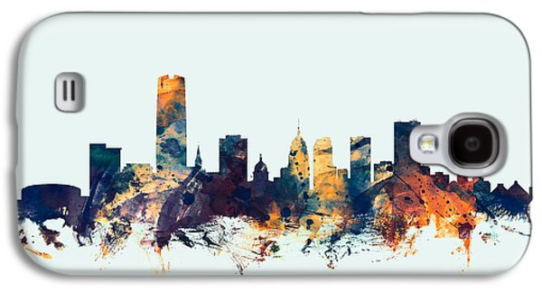 Oklahoma City Skyline Galaxy S4 Case by Michael Tompsett