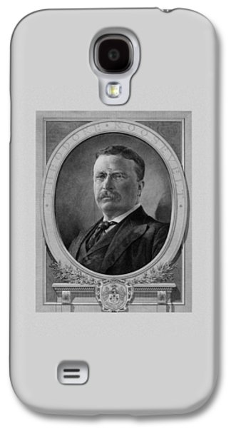 Patriot Mixed Media Galaxy S4 Cases - President Theodore Roosevelt Galaxy S4 Case by War Is Hell Store