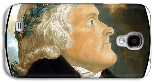 Thomas Jefferson Galaxy S4 Cases - President Thomas Jefferson Galaxy S4 Case by War Is Hell Store