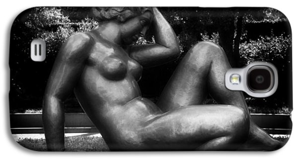 Black Sculptures Galaxy S4 Cases - Reclining Nude Sculpture  Galaxy S4 Case by Mountain Dreams