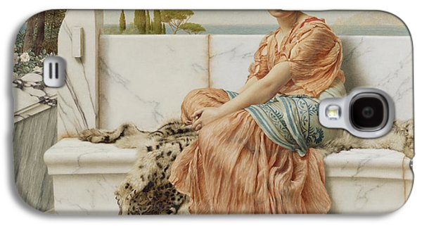 Alluring Paintings Galaxy S4 Cases - Reverie Galaxy S4 Case by John William Godward