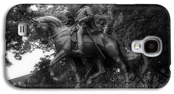 Black Sculptures Galaxy S4 Cases - Statue of General Robert E Lee on His Horse Traveller  Galaxy S4 Case by Mountain Dreams