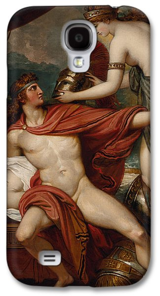 Goddess Mythology Paintings Galaxy S4 Cases - Thetis Bringing the Armor to Achilles Galaxy S4 Case by Benjamin West