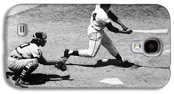 African-american Galaxy S4 Cases - Willie Mays (1931- ) Galaxy S4 Case by Granger