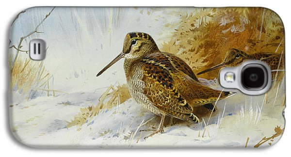 Winter Woodcock Galaxy S4 Case by Archibald Thorburn
