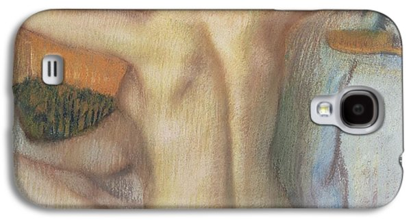 Nudes Pastels Galaxy S4 Cases - Woman combing her hair Galaxy S4 Case by Edgar Degas