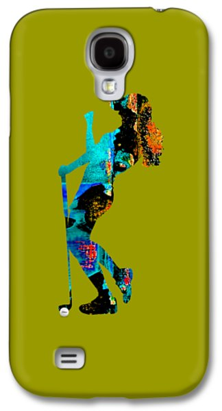 Womens Golf Collection Galaxy S4 Case by Marvin Blaine