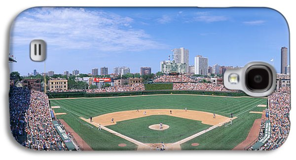 Sports Photographs Galaxy S4 Cases - Wrigley Field, Chicago, Cubs V Galaxy S4 Case by Panoramic Images