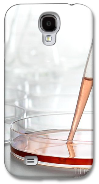Bacterium Galaxy S4 Cases - Laboratory Experiment in Science Research Lab Galaxy S4 Case by Olivier Le Queinec