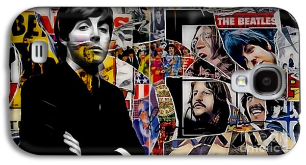 Beatles Galaxy S4 Cases - Paul McCartney Collection Galaxy S4 Case by Marvin Blaine