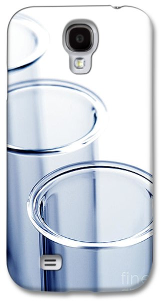 Equipment Galaxy S4 Cases - Laboratory Test Tubes in Science Research Lab Galaxy S4 Case by Olivier Le Queinec