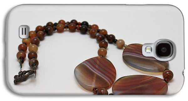 Handmade Jewelry Jewelry Galaxy S4 Cases - 3543 Coffee Vein Agate Necklace Galaxy S4 Case by Teresa Mucha