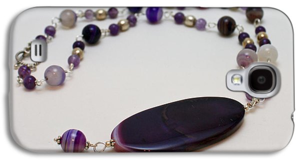Design Jewelry Galaxy S4 Cases - 3573 Banded Agate Necklace  Galaxy S4 Case by Teresa Mucha