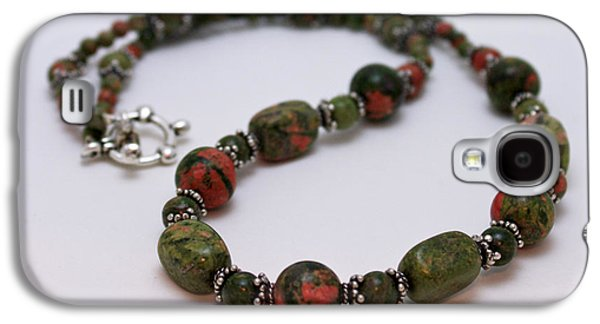 Design Jewelry Galaxy S4 Cases - 3579 Unakite Necklace  Galaxy S4 Case by Teresa Mucha