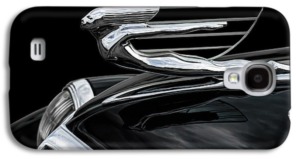 Car Mascot Digital Galaxy S4 Cases - 37 Cadillac Hood Angel Galaxy S4 Case by Douglas Pittman