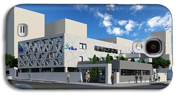 Animation Galaxy S4 Cases - 3D Commercial Office Exterior Rendering Design Galaxy S4 Case by Yantram Studio