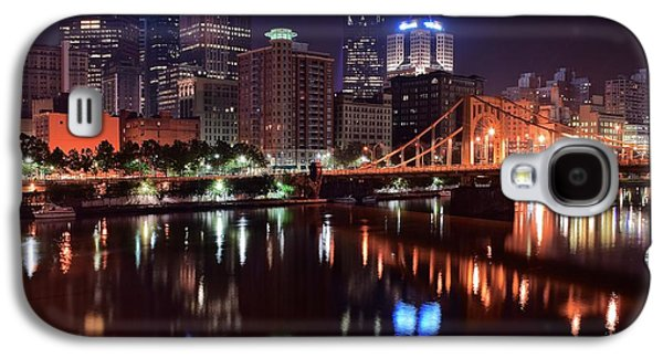 Commerce Galaxy S4 Cases - A Pittsburgh Night Galaxy S4 Case by Frozen in Time Fine Art Photography