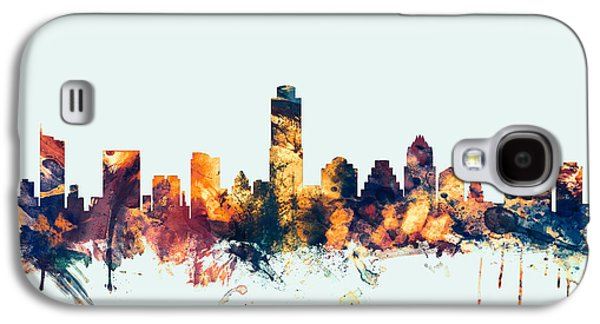 Austin Texas Skyline Galaxy S4 Case by Michael Tompsett