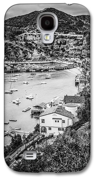 Catalina Island Avalon Bay Black And White Photo Galaxy S4 Case by Paul Velgos