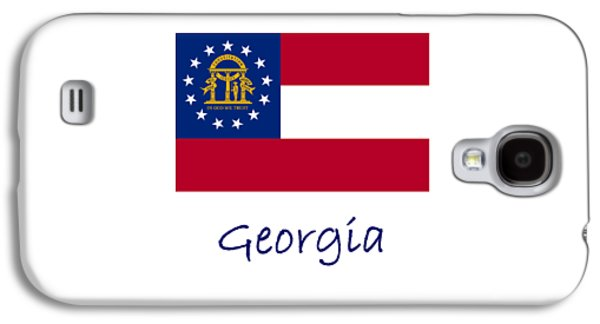 Waving Flag Mixed Media Galaxy S4 Cases - Georgia Flag Galaxy S4 Case by Frederick Holiday