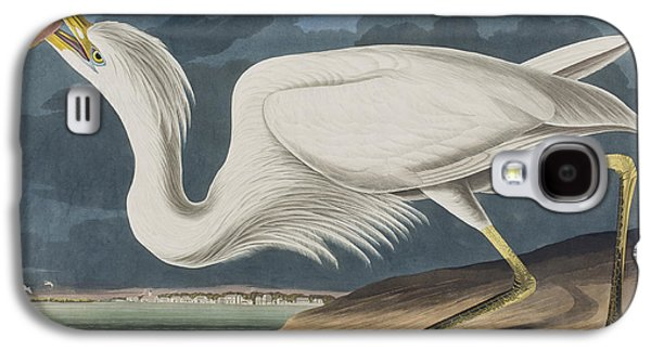 Great White Heron Galaxy S4 Case by John James Audubon