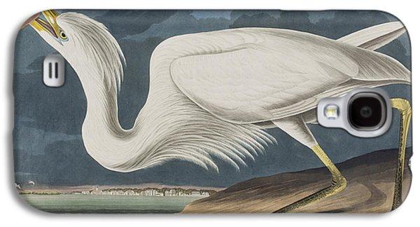 Great Birds Galaxy S4 Cases - Great White Heron Galaxy S4 Case by John James Audubon