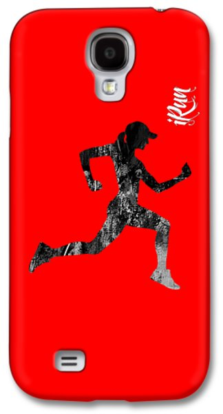 iRun Fitness Collection Galaxy S4 Case by Marvin Blaine