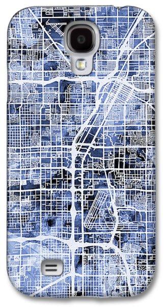 The Strip Galaxy S4 Cases - Las Vegas City Street Map Galaxy S4 Case by Michael Tompsett