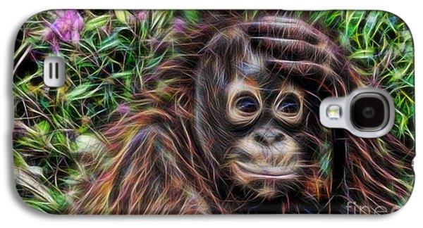 Green Galaxy S4 Cases - Monkey Business Collection Galaxy S4 Case by Marvin Blaine