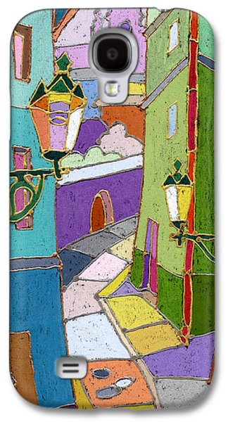 Colored Galaxy S4 Cases - Prague Old Street Galaxy S4 Case by Yuriy  Shevchuk